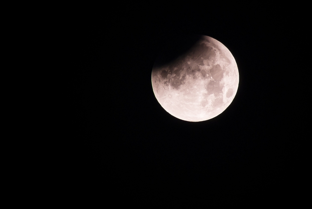 Lunar eclipse (Red Moon) on 28-09-2015